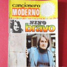 Catálogos de Música: CANCIONERO MODERNO - NINO BRAVO. Lote 163731630