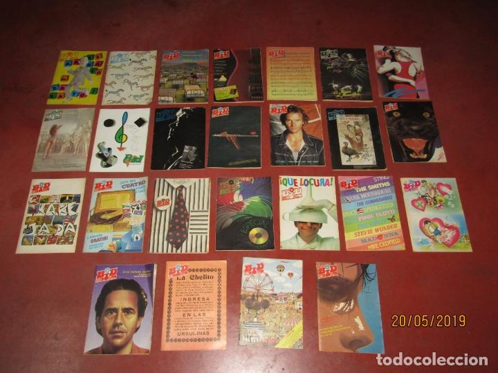 ANTIGUO LOTE DE 25 BID BOLETÍN INFORMATIVO DISCOPLAY AÑOS 1986-1989 (Música - Catálogos de Música, Libros y Cancioneros)