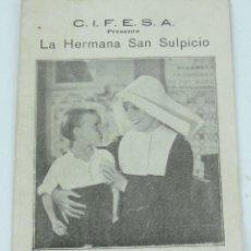 Catálogos de Música: CANCIONERO CIFESA, LA HERMANA SAN SULPICIO, CON IMPERIO ARGENTINA Y MIGUEL LIGERO, IMP. UNIVERSAL, M. Lote 165441902