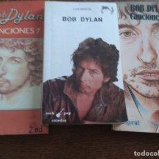 Catálogos de Música: LOTE DE 3 LIBROS, BOB DYLAN -. Lote 165845434