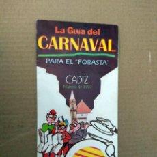 Catálogos de Música: CARNAVAL 1997 - LA GUIA DEL CARNAVAL PARA EL FORASTA. Lote 166838414
