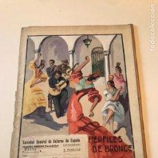 Catálogos de Música: ANTIGUA PARTITURA - PERFILES DE BRONCE - V. MILLÁN. Lote 166867745