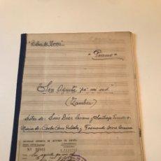 Catálogos de Música: ANTIGUA PARTITURA - DELIA DE TORRES - SIN AGÜITA PA MI SED, PIANO. Lote 166876057