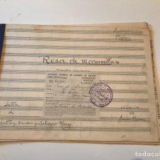 Catálogos de Música: ANTIGUA PARTITURA - ROSA DE MARAVILLAS - MÚSICA DE JESÚS ROMO - LETRA S. ESCUDERO & S. MAURI. Lote 166881306