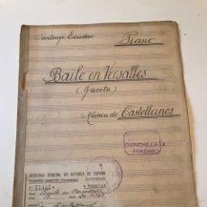 Catálogos de Música: ANTIGUA PARTITURA - BAILE DE VERSALLES (PAVOTA) - MÚSICA DE CASTELLANOS. Lote 166884698