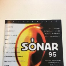 Catálogos de Música: PROGRAMA FESTIVAL SONAR 1995 BARCELONA. Lote 168088172