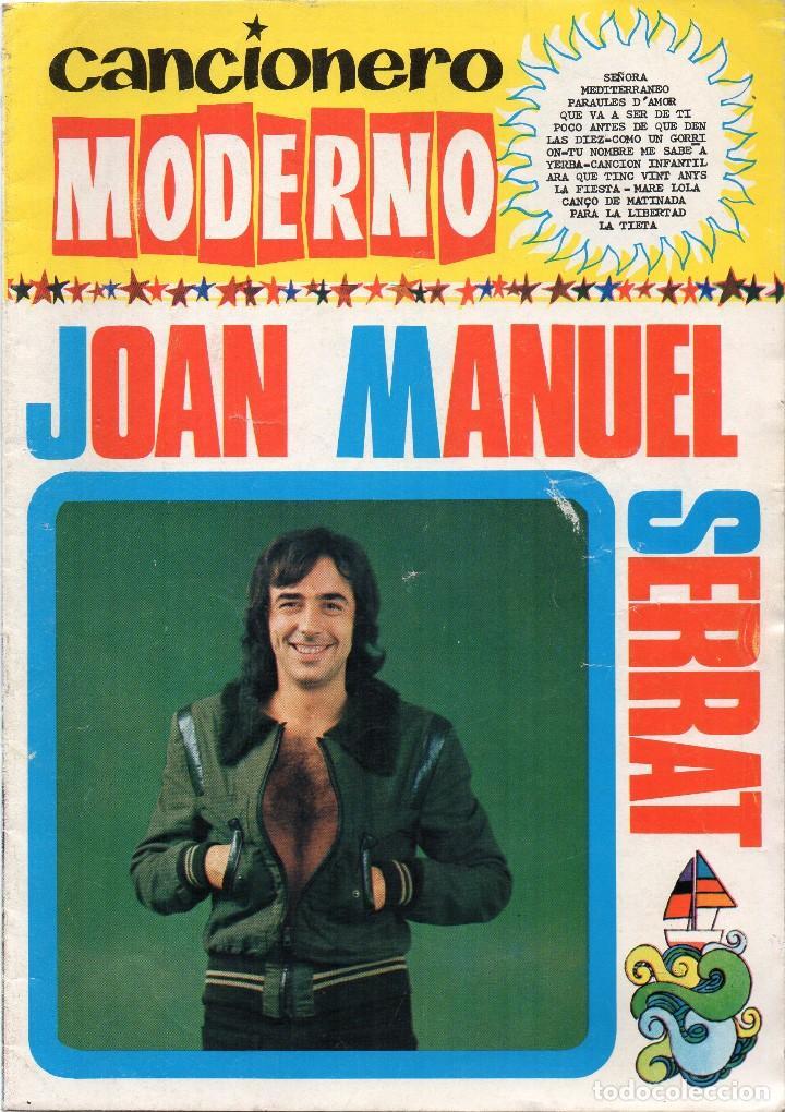 CANCIONERO MODERNO JOAN MANUEL SERRAT (Música - Catálogos de Música, Libros y Cancioneros)