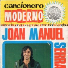 Catálogos de Música: CANCIONERO MODERNO JOAN MANUEL SERRAT. Lote 169778944