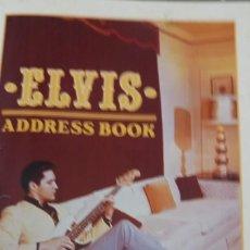Catálogos de Música: ELVIS PRESLEY AGENDA TELEFÓNICA Y DIRECCIONES. Lote 170061036