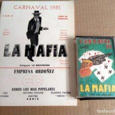 Catálogos de Música: CORO LA MAFIA CARNAVAL DE CADIZ 1981 CASSETTE + LIBRETO. Lote 170111676