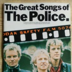 Catálogos de Música: GREAT SONGS THE POLICE PIANO VOCAL GUITAR CHORD SYMBOLS WISE PUBLICATIONS 1984. Lote 170436336
