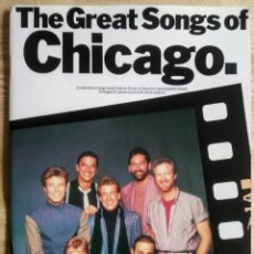 Catálogos de Música: GREAT SONGS OF CHICAGO PIANO VOCAL GUITAR CHORD SYMBOLS WISE PUBLICATIONS 1985. Lote 170436848