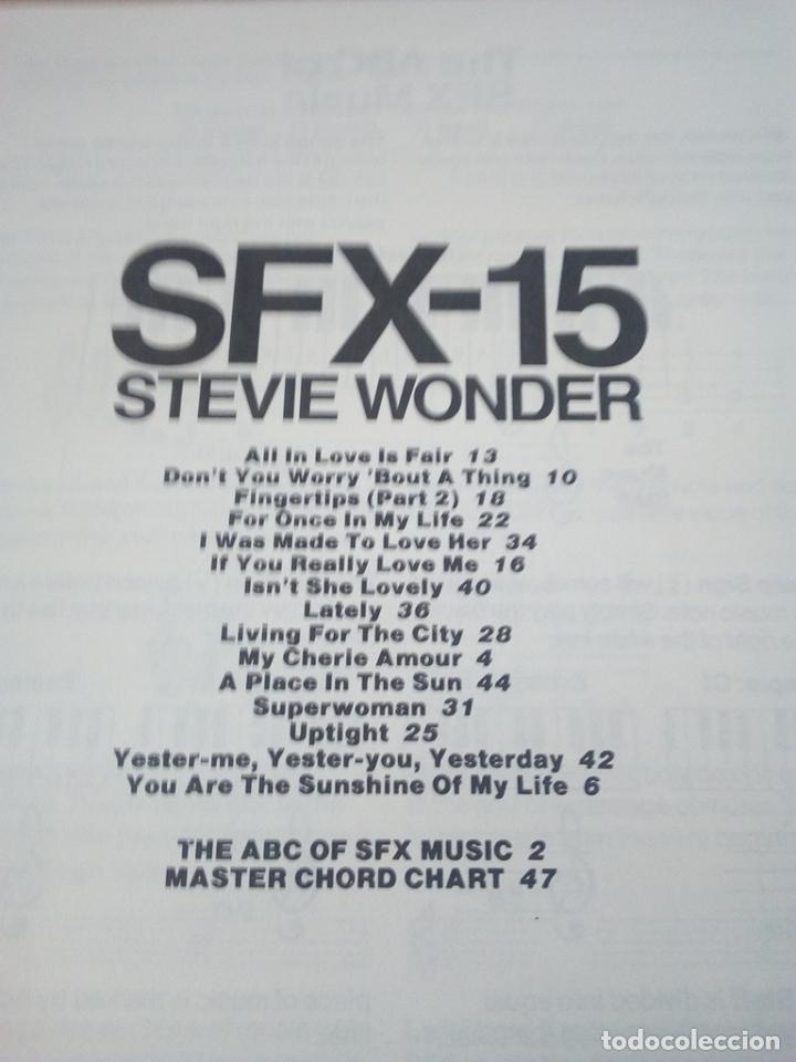 Catálogos de Música: SONGBOOK-SFX-15 STEVIE WONDER-FOR PIANO/ORGANS ,KEYBOARDS GUITAR AND VOCAL-1984-INGLES- - Foto 3 - 170493816