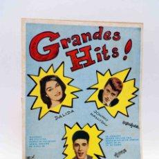 Catálogos de Música: CANCIONERO 34. GRANDES HITS. JOHNNY HALLYDAY, DALIDA, SANTY. BISTAGNE, 1962. OFRT. Lote 171092219