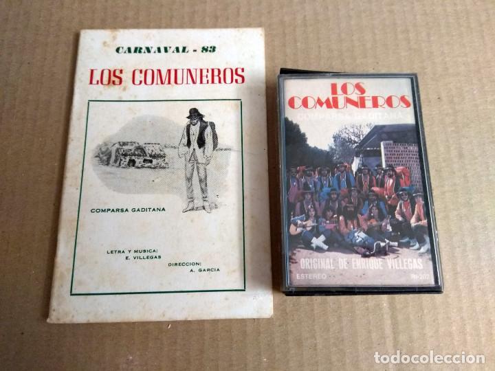 COMPARSA LOS COMUNEROS CARNAVAL DE CADIZ 1983 CASSETTE + LIBRETO (Música - Catálogos de Música, Libros y Cancioneros)