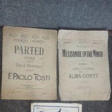 Catálogos de Música: 3 LIBRETOS DE PARTITURAS. INGLESES.PRINCIPIOS SIGLO XX. Lote 172603642