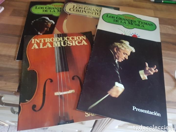 LOTE DE 5 CATÁLOGOS DE MÚSICA SALVAT (Música - Catálogos de Música, Libros y Cancioneros)