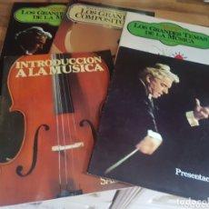Catálogos de Música: LOTE DE 5 CATÁLOGOS DE MÚSICA SALVAT. Lote 173958880
