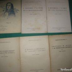 Catálogos de Música: JOSE SUBIRA. COLECCION DE 6 MONOGRAFIAS MUSICALES 1-6 . ASOCIACION DE CULTURA MUSICAL 1923.. Lote 174387779
