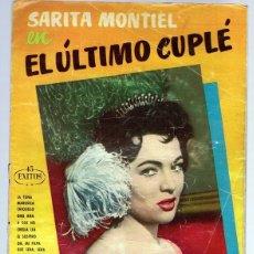 Catálogos de Música: CANCIONERO COLOR SARITA MONTIEL EL ÚLTIMO CUPLÉ . Lote 174394002
