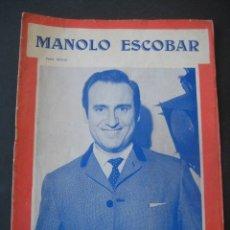 Catálogos de Música: CANCIONERO 1970 MANOLO ESCOBAR. EDICIONES MARAZUL, BARCELONA. Lote 175939792