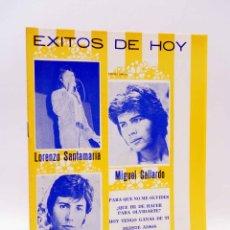 Catalogues de Musique: CANCIONERO. ÉXITOS DE HOY: LORENZO SANTAMARÍA, MIGUEL GALLARDO, MANOLO OTERO (LORENZO SANTAMARÍA). Lote 176044765