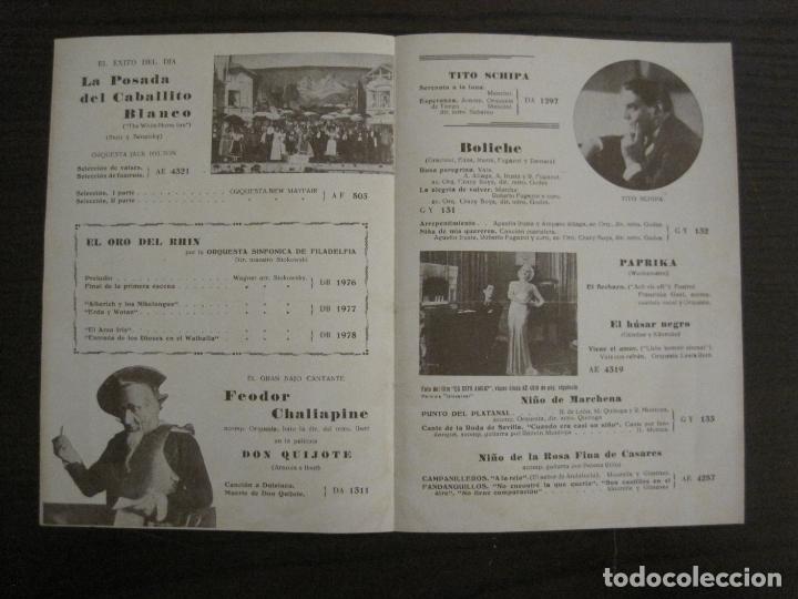 Catálogos de Música: EL ORO DEL RHIN-ORQUESTA DE FILADELFIA-CATALOGO MUSICA LA VOZ DE SU AMO-ENERO 1934-VER FOTOS-V-17592 - Foto 2 - 176575160