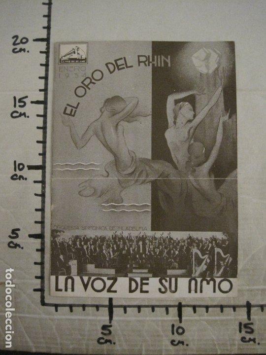 Catálogos de Música: EL ORO DEL RHIN-ORQUESTA DE FILADELFIA-CATALOGO MUSICA LA VOZ DE SU AMO-ENERO 1934-VER FOTOS-V-17592 - Foto 4 - 176575160