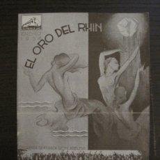 Catálogos de Música: EL ORO DEL RHIN-ORQUESTA DE FILADELFIA-CATALOGO MUSICA LA VOZ DE SU AMO-ENERO 1934-VER FOTOS-V-17592. Lote 176575160