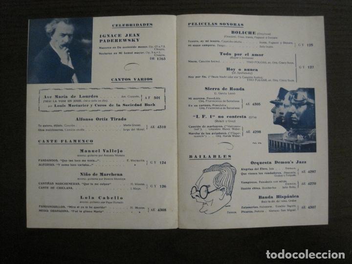 Catálogos de Música: BOLICHE-CATALOGO MUSICA LA VOZ DE SU AMO-NOVIEMBRE 1933-VER FOTOS-(V-17.594) - Foto 3 - 176575438