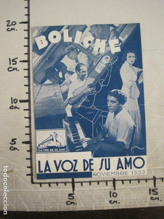 Catálogos de Música: BOLICHE-CATALOGO MUSICA LA VOZ DE SU AMO-NOVIEMBRE 1933-VER FOTOS-(V-17.594) - Foto 5 - 176575438