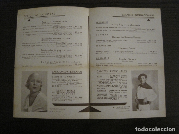Catálogos de Música: KIEPURA & EGGERTH-PASO A LA JUVENTUD-CATALOGO MUSICA ODEON-OCTUBRE 1934-VER FOTOS-(V-17.596) - Foto 2 - 176575959