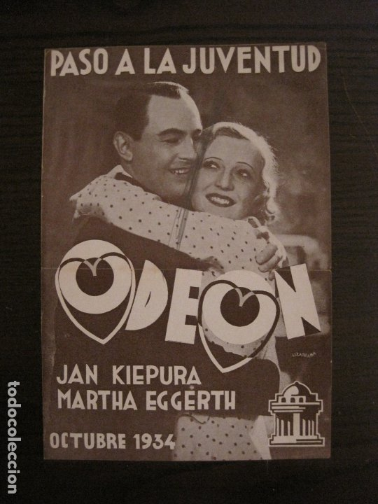 KIEPURA & EGGERTH-PASO A LA JUVENTUD-CATALOGO MUSICA ODEON-OCTUBRE 1934-VER FOTOS-(V-17.596) (Música - Catálogos de Música, Libros y Cancioneros)