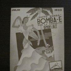 Catálogos de Música: DEMONS JAZZ-BOMBA E-CATALOGO MUSICA LA VOZ DE SU AMO-JULIO 1933-VER FOTOS-(V-17.598). Lote 176576232