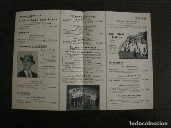 Catálogos de Música: MAREK WEBER-VELADA CON LISZT-CATALOGO MUSICA LA VOZ DE SU AMO-OCTUBRE 1933-VER FOTOS-(V-17.599) - Foto 2 - 176576325