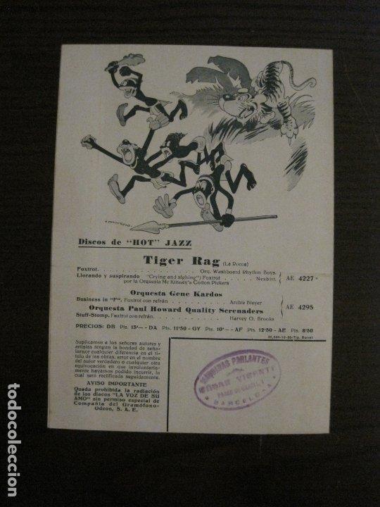 Catálogos de Música: MAREK WEBER-VELADA CON LISZT-CATALOGO MUSICA LA VOZ DE SU AMO-OCTUBRE 1933-VER FOTOS-(V-17.599) - Foto 3 - 176576325