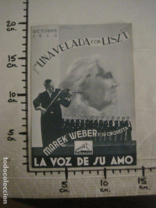 Catálogos de Música: MAREK WEBER-VELADA CON LISZT-CATALOGO MUSICA LA VOZ DE SU AMO-OCTUBRE 1933-VER FOTOS-(V-17.599) - Foto 4 - 176576325