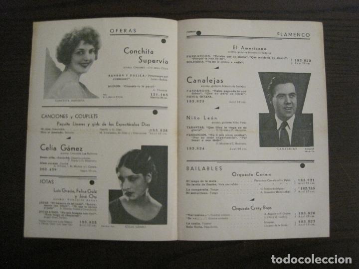 Catálogos de Música: MARRAMIAU-EL AFILADOR-CATALOGO MUSICA ODEON-SEPTIEMBRE 1934-VER FOTOS-(V-17.602) - Foto 2 - 176576638