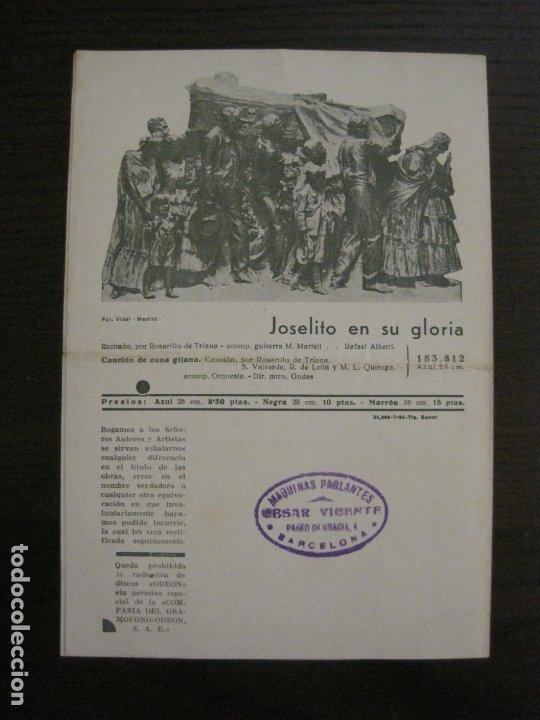 Catálogos de Música: MARRAMIAU-EL AFILADOR-CATALOGO MUSICA ODEON-SEPTIEMBRE 1934-VER FOTOS-(V-17.602) - Foto 3 - 176576638