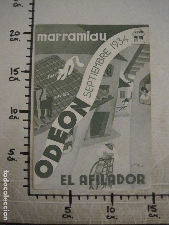 Catálogos de Música: MARRAMIAU-EL AFILADOR-CATALOGO MUSICA ODEON-SEPTIEMBRE 1934-VER FOTOS-(V-17.602) - Foto 4 - 176576638