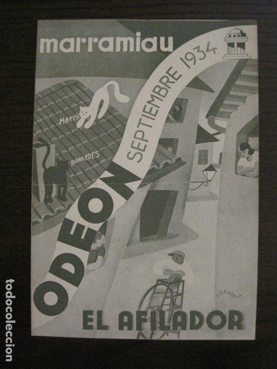 MARRAMIAU-EL AFILADOR-CATALOGO MUSICA ODEON-SEPTIEMBRE 1934-VER FOTOS-(V-17.602) (Música - Catálogos de Música, Libros y Cancioneros)