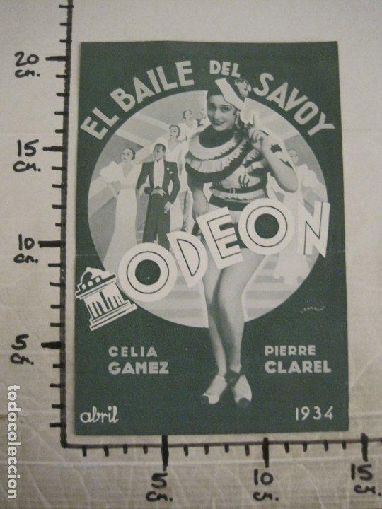 Catálogos de Música: BAILE DEL SAVOY-CELIA GAMEZ & PIERRE CLAREL-CATALOGO MUSICA ODEON-ABRIL 1934-VER FOTOS-(V-17.603) - Foto 4 - 176576774