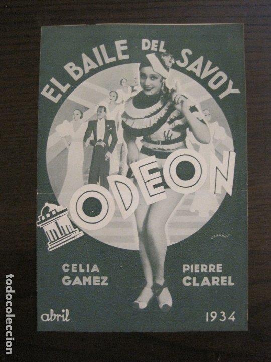 BAILE DEL SAVOY-CELIA GAMEZ & PIERRE CLAREL-CATALOGO MUSICA ODEON-ABRIL 1934-VER FOTOS-(V-17.603) (Música - Catálogos de Música, Libros y Cancioneros)
