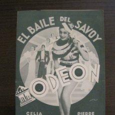 Catálogos de Música: BAILE DEL SAVOY-CELIA GAMEZ & PIERRE CLAREL-CATALOGO MUSICA ODEON-ABRIL 1934-VER FOTOS-(V-17.603). Lote 176576774