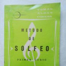 Catálogos de Música: MÉTODO DE SOLFEO TOMAS ALDAS CONESA. Lote 177434873