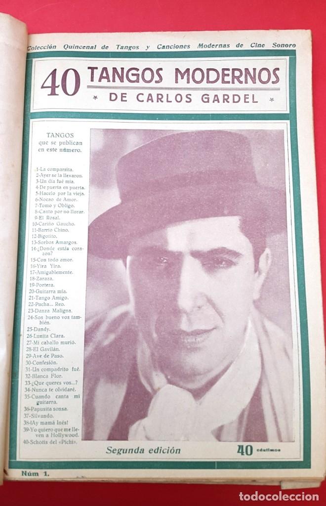 CANCIONEROS - 40 TANGOS MODERNOS - 5 REVISTAS (Música - Catálogos de Música, Libros y Cancioneros)