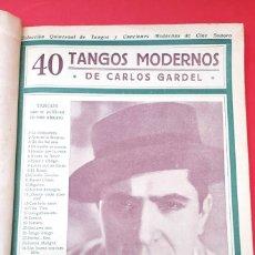 Catálogos de Música: CANCIONEROS - 40 TANGOS MODERNOS - 5 REVISTAS. Lote 177605049