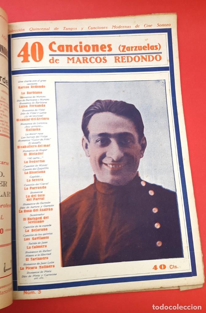 Catálogos de Música: CANCIONEROS - 40 TANGOS MODERNOS - 5 REVISTAS - Foto 3 - 177605049