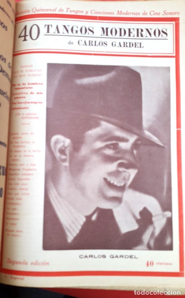 Catálogos de Música: CANCIONEROS - 40 TANGOS MODERNOS - 5 REVISTAS - Foto 5 - 177605049
