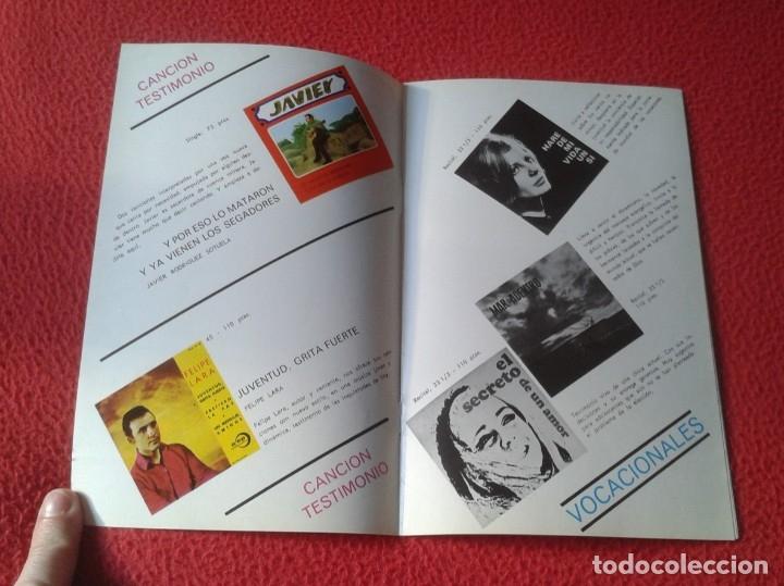 Catálogos de Música: ANTIGUO CATÁLOGO MUSICAL MÚSICA RELIGIOSA RELIGIÓN DISCOS EDICIONES PAULINAS 1970 CANCIÓN TESTIMONIO - Foto 3 - 178269143